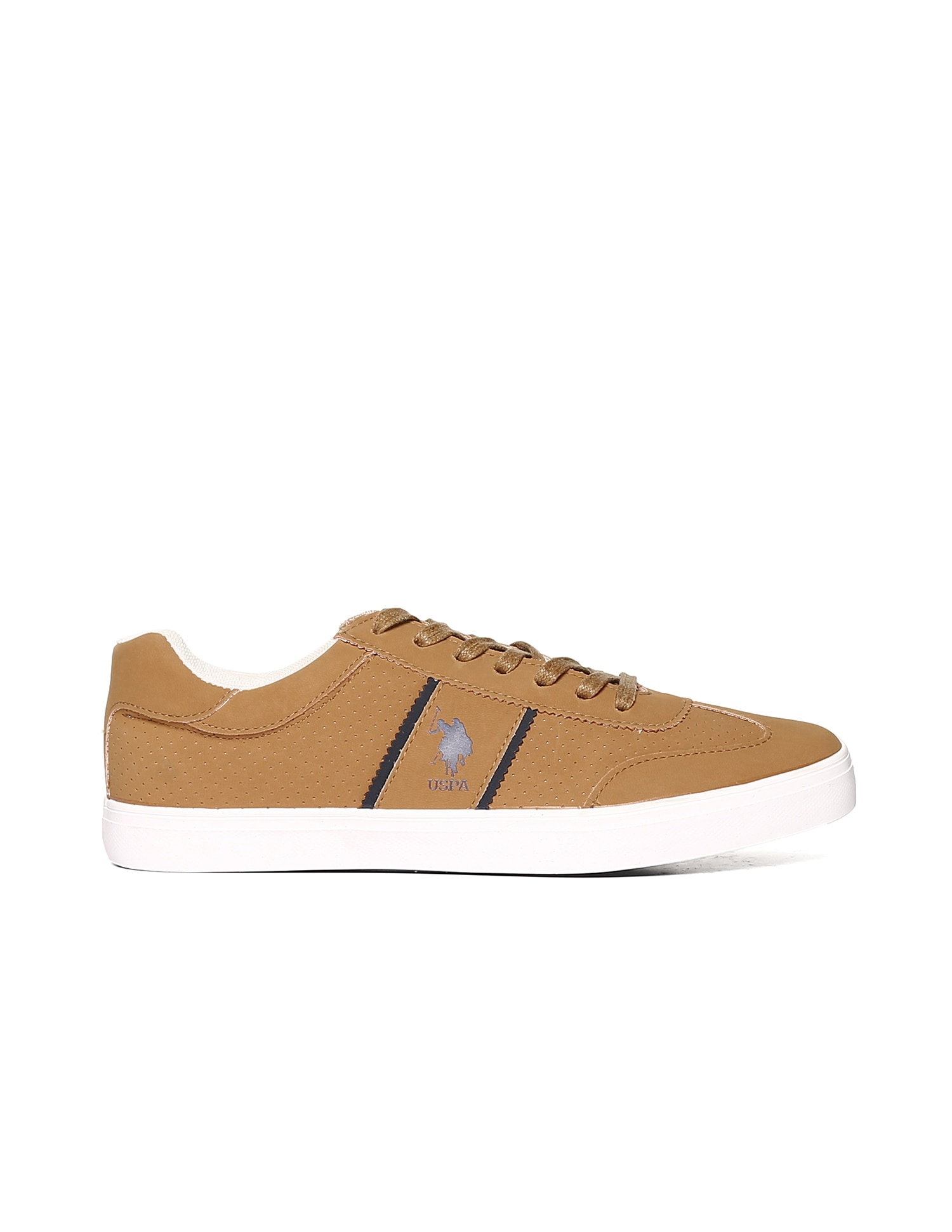 U.S. Polo Assn. Men Brown Sneakers - 5elow2ofriv