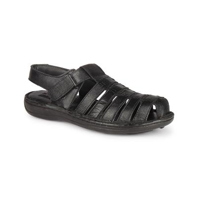VAOVA Mens Formal Leather Sandal - Black