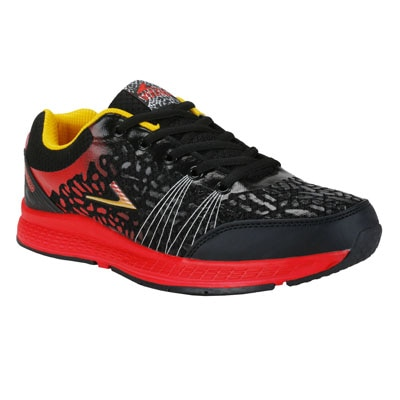 Vostro Black And Red Sports Shoes