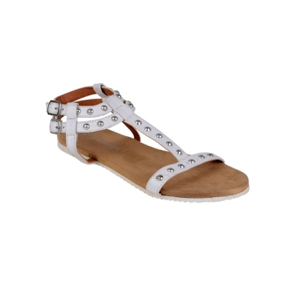 Berry Purple White Women Sandals