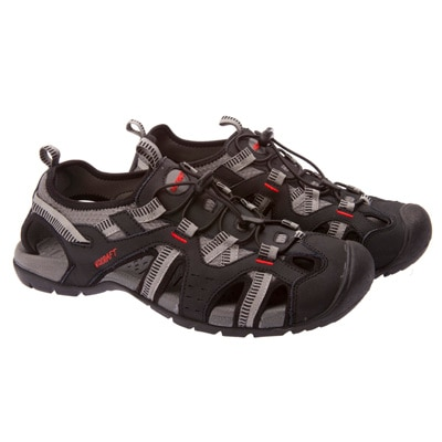 Wildcraft Black Synthetic Leather Sandals