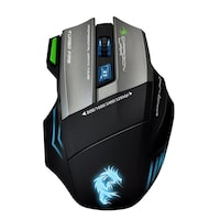 Dragon War ELE-G9 Thor Bluetrack USB Gaming Mouse (Black) With Marco Function