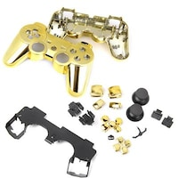 Magideal 1x Shell Case with Complete Spare Button Parts 14010292 For PS3 (Golden)