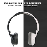 Portable Over-Ear Adjustable Headband Wired 3.5mm Earphone Stereo Headset Foldable Headphone for iPhone iPad iPod PC Laptop Computer Smartphone