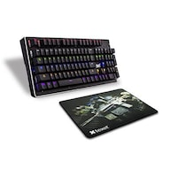 SHIFT FLAMER Real Mechanical Gaming Keyboard (104 keys) by Texet + Texet Rubber Gaming Mouse pad