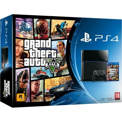 Sony PlayStation 4 Console With GTA 5 Bundle (Black)