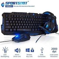 SoundBot SportsBot 3-in-1 SS301 Gaming Combo (Black)