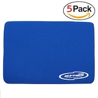 Storite 3mm Thickness Speed Rubber Mouse Pad Black 1030 Skid Resistant Surface - Blue(5 Pack)
