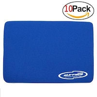Storite 3mm Thickness Speed Rubber Mouse Pad Black 1030 Skid Resistant Surface - Blue(10 Pack)