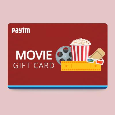 10% Cashback On Movie Gift Card By Paytm
