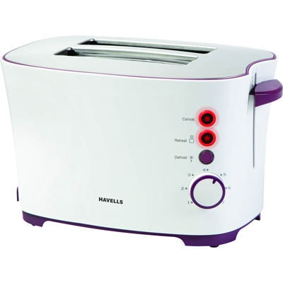Havells Feasto 2 Slice Pop Up Toaster (White)