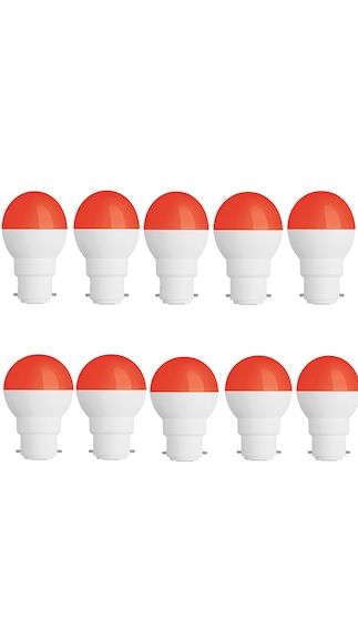 0.5W-Led-Candel-Night-White-Lamp-Round-(Red,-Pack-of-10)