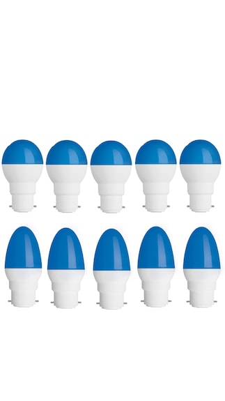 Rashmi-0.5W-Plastic-Body-Multicolor-Round-and-Ovel-LED-Bulb-(Blue,-Pack-of-10)