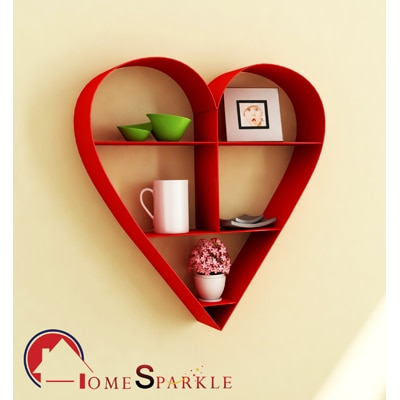 Home Sparkle Heart Shaped Wall Hanging Rack
