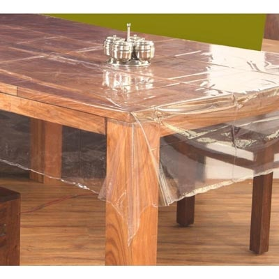 ANS Dinning Table Transperent Sheet For Six Chairs