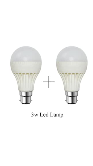 3-W-B22-LED-Bulb-(White,-Pack-of-2)-