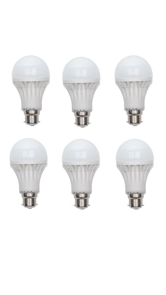 101-Lighting-12W-LED-Bulbs-(White,-Pack-of-6)