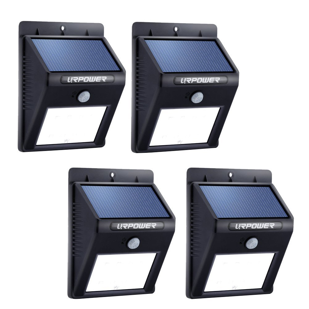 20 LED Bright Outdoor Security Lights with Motion Sensor Wireless Waterproof Night Lighting Solar Powered Spotlight for Garden (PACK OF 4)