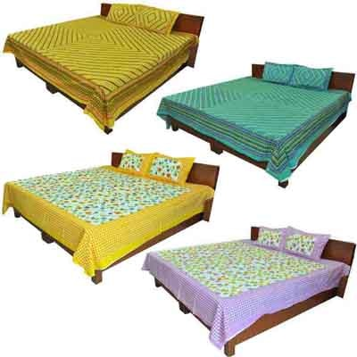 2dots 4 Double Bedsheet And 8 Pillow Covers