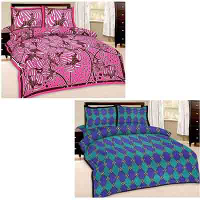 2dots Super Soft 2 Double Bedsheet And 4 Pillow Covers - 31901280