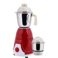 Anjalimix Prime Duo 600 W Mixer Grinder (Red/2 Jars)