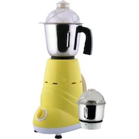 Anjalimix Zobo Duo 600 W Mixer Grinder (Yellow/2 Jars)