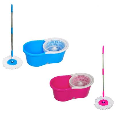 Anmol Magic Mop 360 Rotating Spin Assorted Cleaning Mop With Steel Rod
