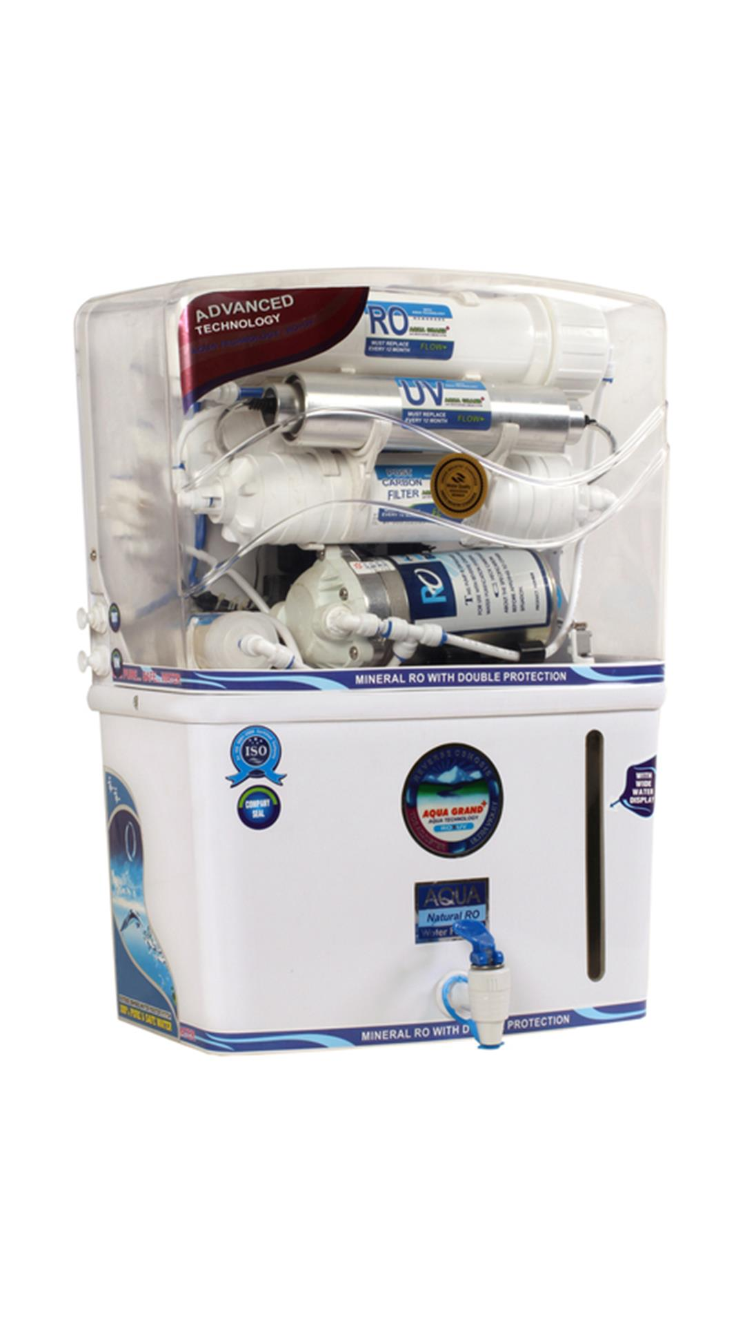 Aquagrand aqua-03 12 L RO+UV+UF Water Purifier (White & Blue)