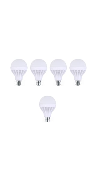15W-Plastic-White-LED-Bulb-(Pack-Of-5)