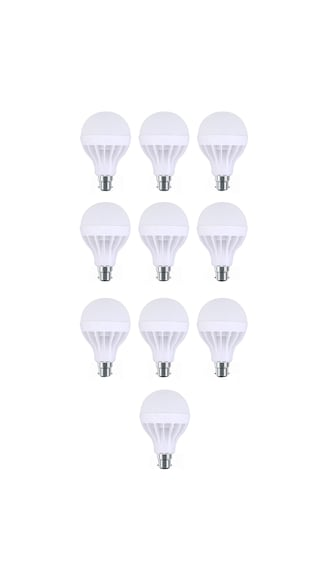 5W-Plastic-White-LED-Bulb-(Pack-Of-10)