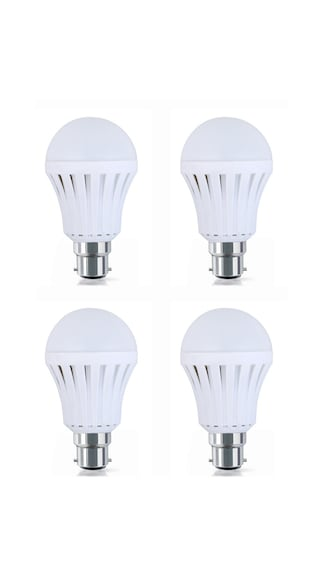 8W-Plastic-White-LED-Bulb-(Pack-Of-4)