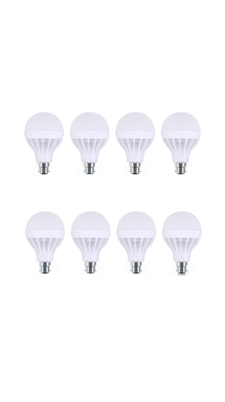8W-Plastic-White-LED-Bulb-(Pack-Of-8)