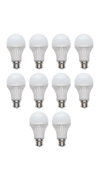 5W and 12W LED Bulb (White, Pack of 10)