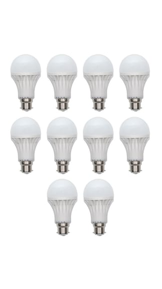 Ave-3W-(Pack-of-5)-&-20W-(Pack-of-5)-White-Led-Bulb