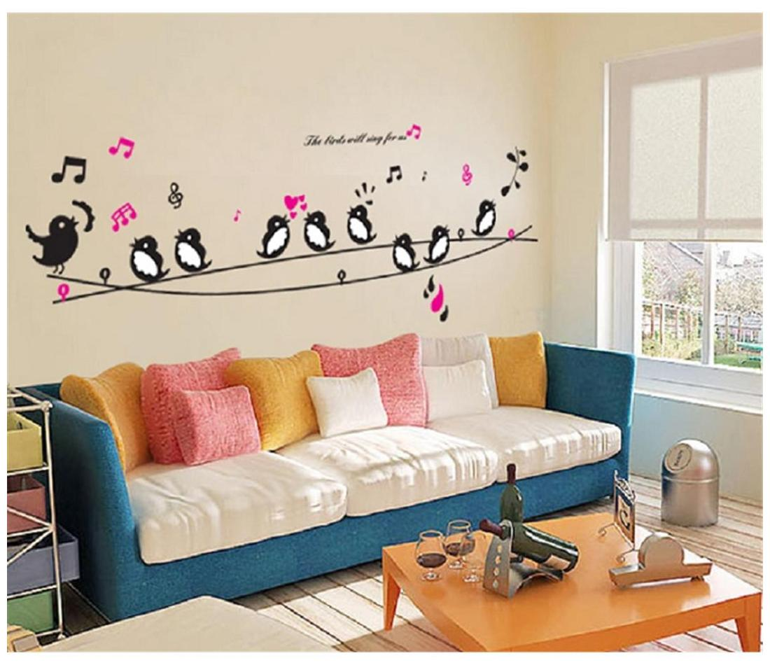 AY7019 Singing Birds nature Wall Sticker JAAMSO ROYALS