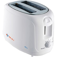Bajaj Majesty ATX 4 2 Slice Pop Up Toaster (White)