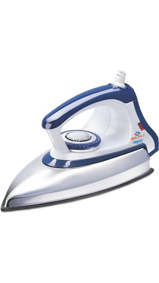 Irons Starting @ Rs.260 By Paytm | Bajaj Majesty DX 11 1000 W Dry Iron (Blue & White) @ Rs.470