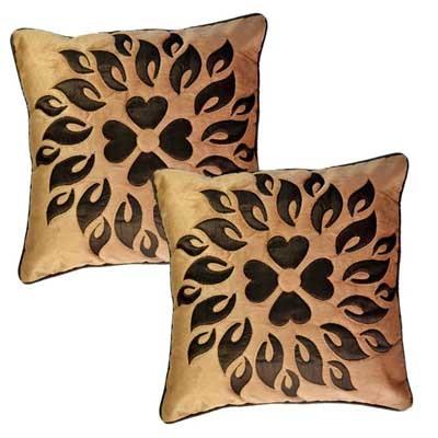 Belive-Me Velvet Brown Cushion Cover Set Of 2