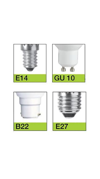 3W, 9W LED Bulb (White, Pack of 3)