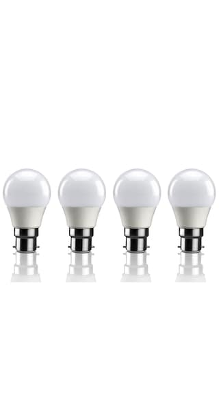 BLUZON-3-W-B22-LED-Bulb-(White,-Pack-of-4)