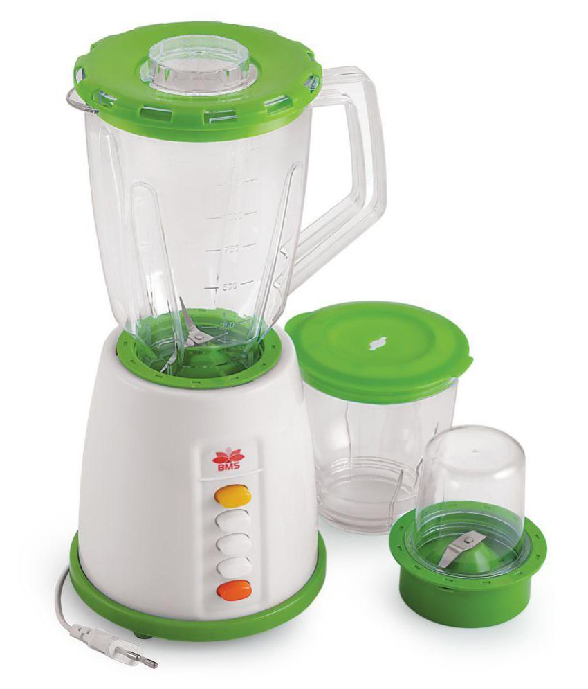 BMS Lifestyle Bms-145 550 Watt 3 Jars Juicer Mixer Grinder ( Green )