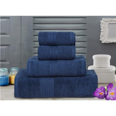 Bombay Dyeing Towel set of 4- Tulip-R4 set-Navy