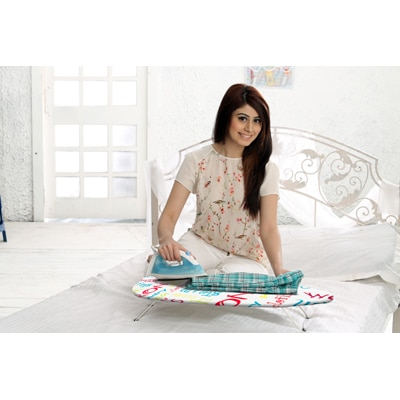 Bonita Mini Table Top Ironing Board In Bright Text Print available at Paytm for Rs.649