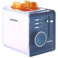 Borosil BTO850WSS2 2 Slice Pop Up Toaster (White)