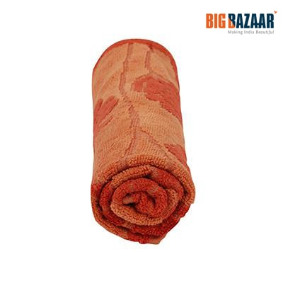 Cannon Cotton Viscose Embossed Hand Towel (Orange)
