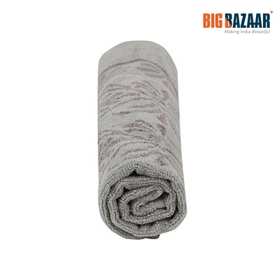 Cannon Cotton Viscose Embossed Hand Towel (Grey)