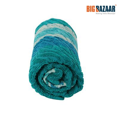 Cannon Wavy Hand Towel (Teal Blue)