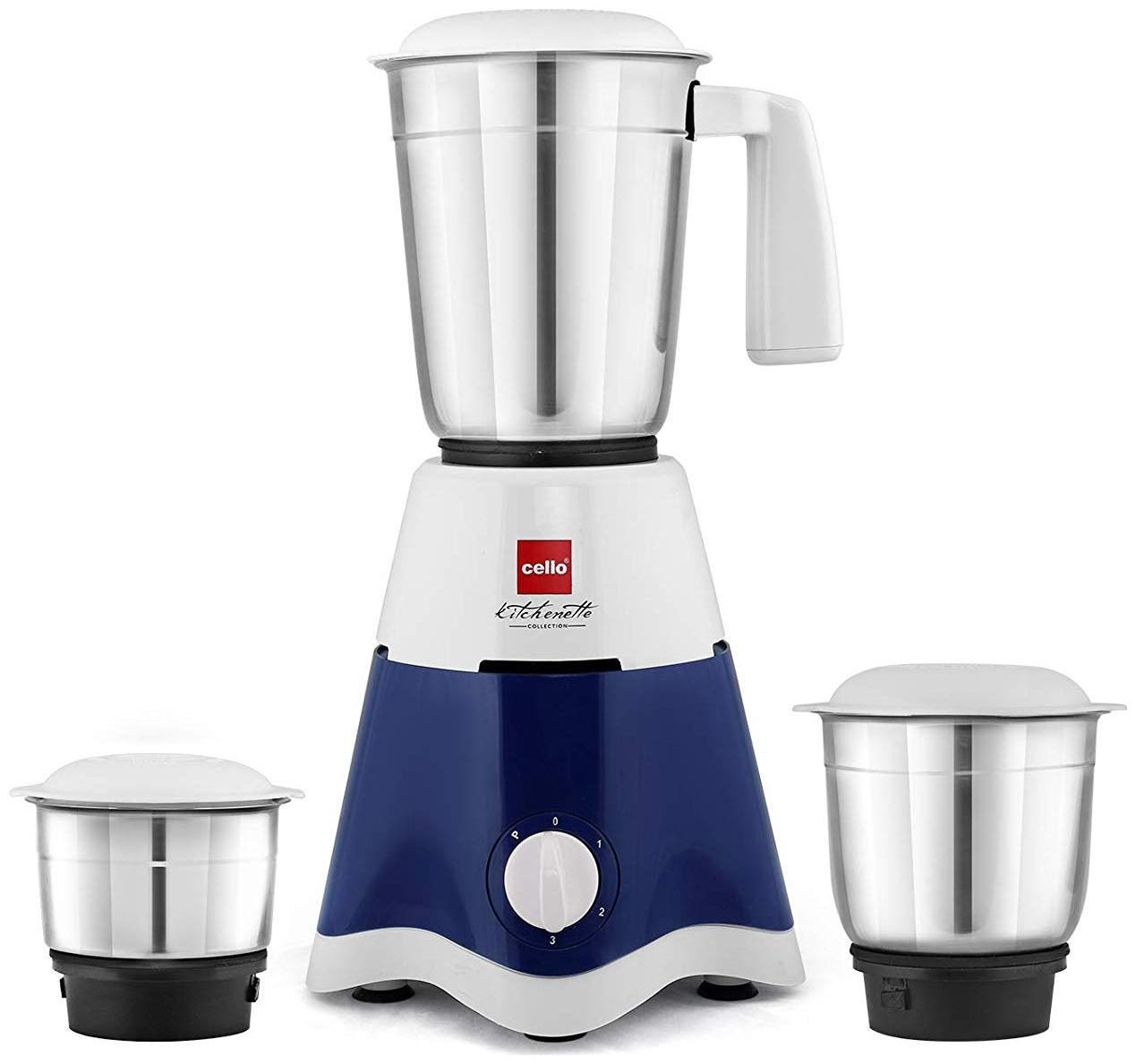 Cello Lifestyle Mixer 500 W 3 Jars Centrifugal Juicer ( White & Blue )