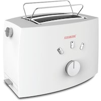 Clearline Auto-Pop-Up toaster with Crumb Tray (White)