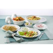Corelle Vitrelle Glass White Dinner Set - Set Of 16